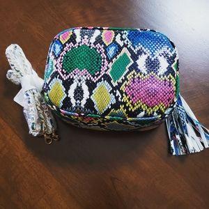 Multicolored Snakeskin Bag